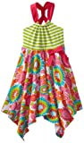 Bonnie Jean Girls 7-16 Hankyhem Print Sundress, Green, 16