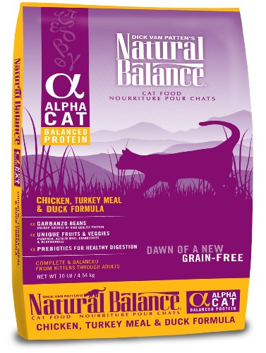 See Natural Balance Alpha Grain-Free Chicken, Turkey Meal, and Duck Formula for Cats, 10-Pound Bag