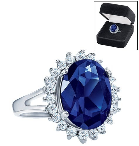 Avon majestic princess ring replica of for Princess diana jewelry box