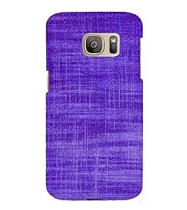EPICCASE Viloet textured Mobile Back Case Cover For Samsung Galaxy S7 Edge (Designer Case)