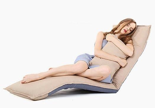 Lazy sofa Tatami individuale pieghevole Cuscino schienale cuscini cuscini galleggianti Cuscino computer Divano letto Divani letto Divano letto schienale , khaki