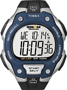 Timex Men's T5K496 Ironman Traditional 50-Lap Black Resin Strap Watch