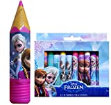 Back to School Supplies Disney Frozen Arts and Crafts Duo Variations (PENCIL HOLDER/CRAYON HOLDER WITH JUMBO CRAYONS)