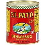 El Pato Red Enchilada Sauce 28 Oz (Pack of 4)