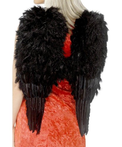 Black Feather Angel Adult Costume Wings