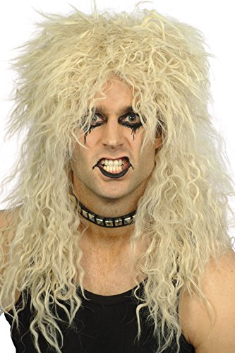 [Smiffy's Men's Hard Rocker Wig Blonde Long Tousled, Blonde, One Size] (80s Metal Costumes)