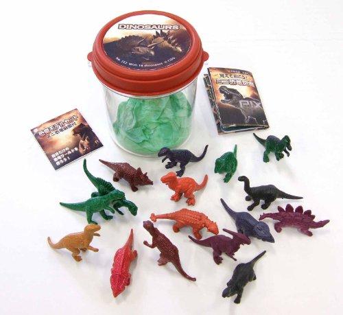 恐竜モデル 16pcs.セット ミニ図鑑付き