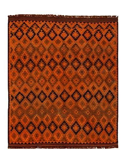 nuLOOM One-of-a-Kind Hand-Knotted Vintage Overdyed Kilim Rug, Orange, 8' 2 x 9' 5