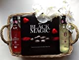 Deluxe Black Tower White & Rose small bottles of Wine & Black Magic Chocolate Hamper - Free gift Wrapping & message option - Perfect for any Occasion
