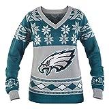 Philadelphia Eagles NFL Women's Big Logo V-Neck Ugly Christmas Sweater