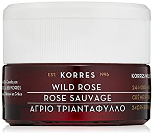 Korres 24-Hour Moisturising and Brightening Cream, Wild Rose, 1.35 fl