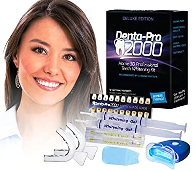 Best Cheap Deal for DentaPro2000 At Home 3D Premium Teeth Whitening Kit - See Results After The First Use! from Pearl Enterprises - Free 2 Day Shipping Available