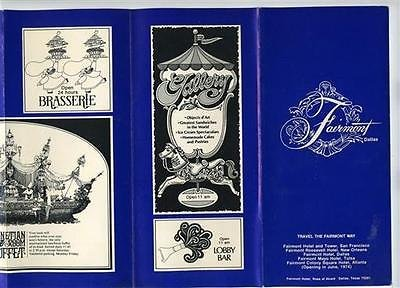 Fairmont Hotel Dallas Texas Entertainment Brochure 1973 Darin Bennett Gaynor (Hotel Dallas compare prices)
