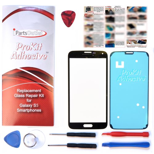 S5 ProKit screen replacement for Samsung Galaxy S5 Screen Glass Lens repair Kit charcoal black for Samsung Galaxy S5 i9600 s5 prokit adhesive (S5 Repair Kit compare prices)