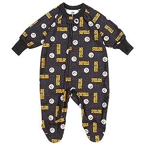 Gerber Pittsburgh Steelers Infant Blanket Sleeper - Black by Gerber