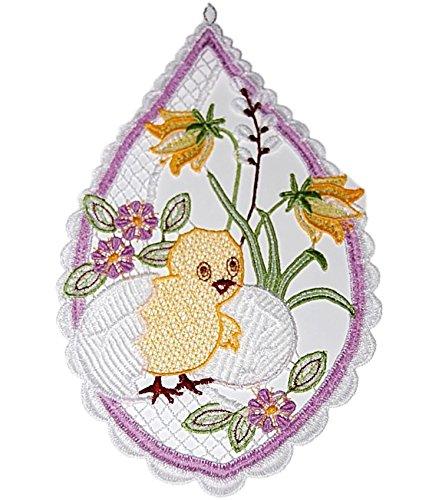 Niedliches Fensterbild Plauener Spitze Ostern K Ken Im Ei