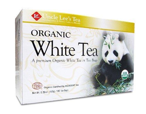 Uncle Lee's Tea - Organic White Tea, premium organic White Tea in Tea Bags 100ct (Pack of 2)