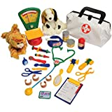 CP Toys Pretend Play Veterinarian 30 Pc. Playset with Stuffed Puppy & Kitty