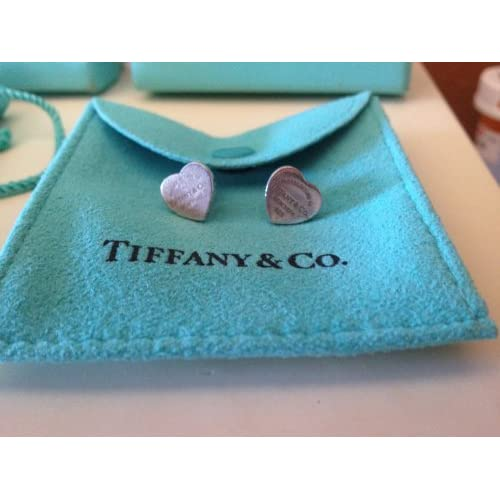 Amazon.com : Return to Tiffany Mini Heart Tag Earrings in Sterling