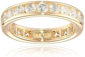 14k White Gold Channel-Set Diamond Eternity Band (2 cttw, I-J Color, I2-I3 Clarity), Size 6