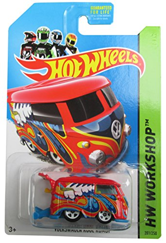 Volkswagen Kool Kombi '14 Hot Wheels 201/250 (Red) Vehicle - 1