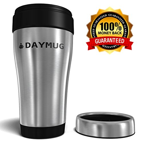 Go back and forth Mug – Very best Espresso & Tea Insulated Touring Thermos Flask with No Spill Lid – Our Commuter Mugs Get Lately 100% Cash Ensure – Most sensible Stainless Metal 16 ouncesDrinking Bottle – Additional Book Incorporated