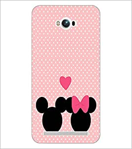 PrintDhaba Mickey and Minnie D-2237 Back Case Cover for ASUS ZENFONE MAX ZC550KL (Multi-Coloured)