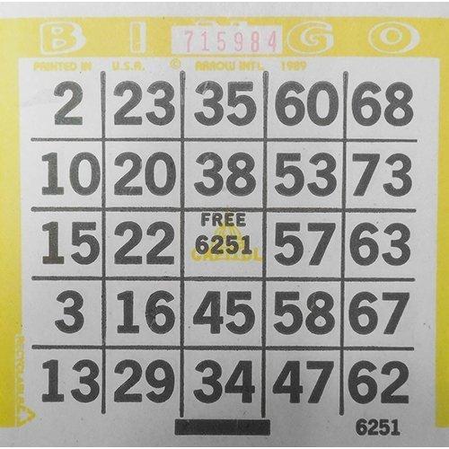 1on-yellow-bingo-paper-by-arrow-international