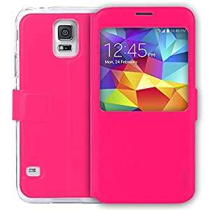 Airplus Aircase Leather Flip Case for Samsung Galaxy S5 (Pink)