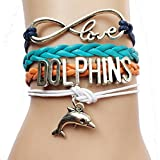 Multi Color Infinity Love Dolphins Charm Bracelet