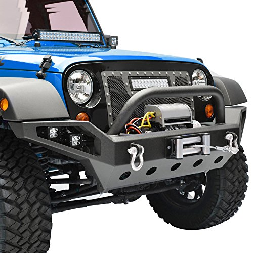 E-Autogrilles-07-17-Jeep-Wrangler-JK-Full-Width-Front-Bumper-with-LED-Lights-2xD-Ring-Winch-Plate-51-0377