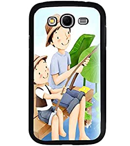 Printvisa Father Son Fishing Back Case Cover for Samsung Galaxy Grand i9080:::Samsung Galaxy Grand i9082