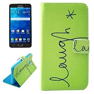 Crazy4Gadget LAUGH Pattern Horizontal Flip Leather Case with Card Slots & Wallet & Holder for Samsung Galaxy Grand Prime / G530H / G5038
