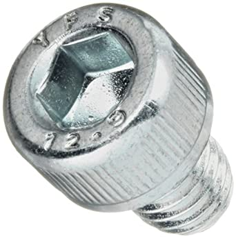Alloy Steel Socket Cap Screw, Zinc Plated Finish, Internal Hex Drive, Meets DIN 912, 10mm Length, Fully Threaded, M8-1.25 Metric Coarse Threads, Imported (Pack of 50)