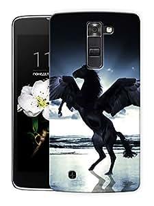 "Flying Horse Printed Designer Mobile Back Cover For ""LG K7"" By Humor Gang (3D, Matte Finish, Premium Quality, Protective Snap On Slim Hard Phone Case, Multi Color)"