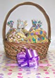 Scott's Cakes Large Easter Garden Dreams Cookie Basket with Handle Bunny Hop Wrapping