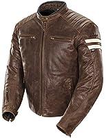 Joe Rocket Classic '92 Men's Leather Motorcycle Jacket (Brown/Cream, Large)