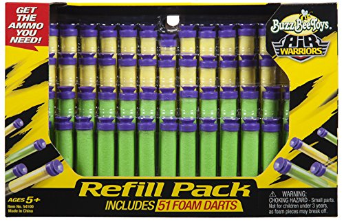 Buzz Bee Toys Air Warriors 51 Foam Darts- Refill Pack