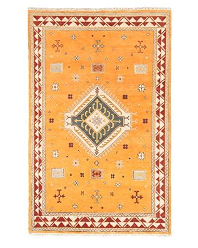 Hand-Knotted Royal Kazak Wool Rug, Orange, 6' 8 x 10' 3