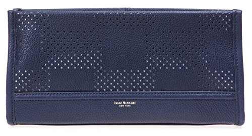 isaac-mizrahi-womens-fashion-designer-handbags-kay-leather-check-perforated-clutch-navy-blue