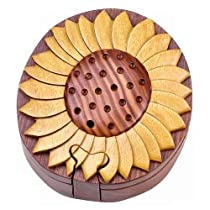 Sunflower - Secret Handcrafted Wooden Puzzle Box