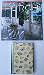 2 Item 2016 Calendar Bundle - 1-2016 On The Porch Calendar and Creative Stationary Sea Shells Journal
