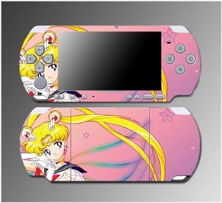 Sailor Moon Jupiter Mars Venus Cartoon Manga Video Game Vinyl Decal Sticker Cover Skin Protector 2 for Sony PSP Slim 3000 3001 3002 3003 3004 Playstation Portable