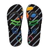 WLHZQS USA SWIMMING Rio 2016 Olympic Logo Unisex Slim Flip Flop