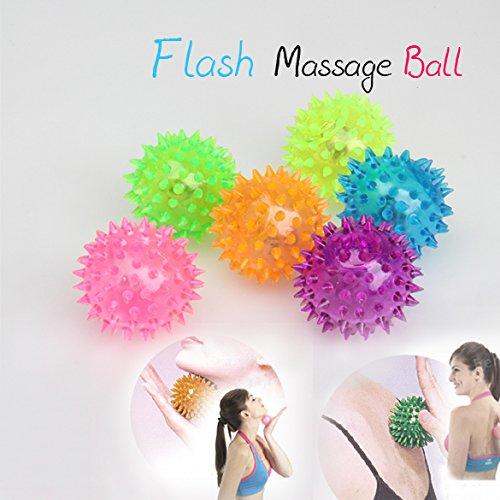 Vktech® Flashing Light Up Spikey High Bouncing Balls Novelty Sensory Hedgehog Ball
