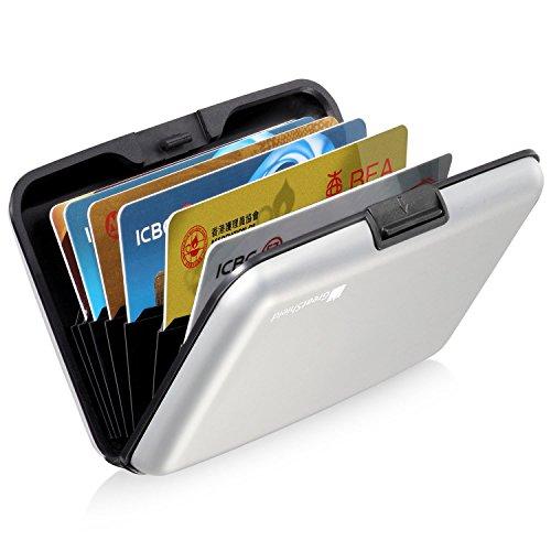 greatshield-rfid-blocking-wallet-8-slots-aluminum-identity-safe-protection-card-holder-silver
