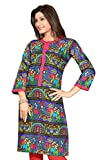 SK Kurtis Kurtis for Women Stylish Multi Colour Cotton Kurti, Designer Kurtis, Cotton Kurtis, Casual Kurtis, Long Kurtis for women (Size : Medium) (SK0360-M)
