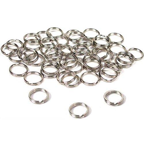 BFlowerYan 50 Split Rings Nickel Plated 9mm (9mm Split Ring compare prices)