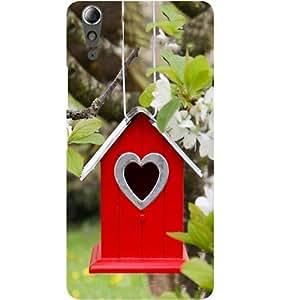 Casotec Bird House Design Hard Back Case Cover for Lenovo A6000 / A6000 Plus