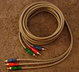 10 FOOT RCA COMPONENT CABLE / GOLD RCA CONECTIONS M-M